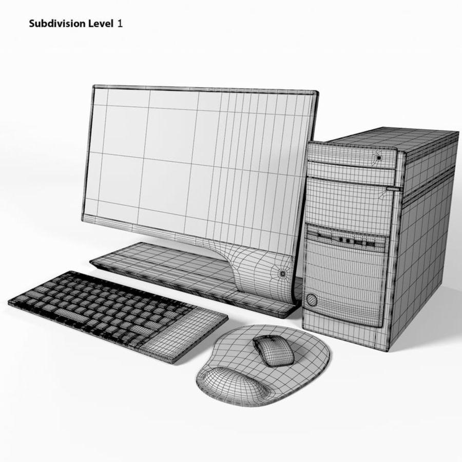 デスクトップコンピューター royalty-free 3d model - Preview no. 12