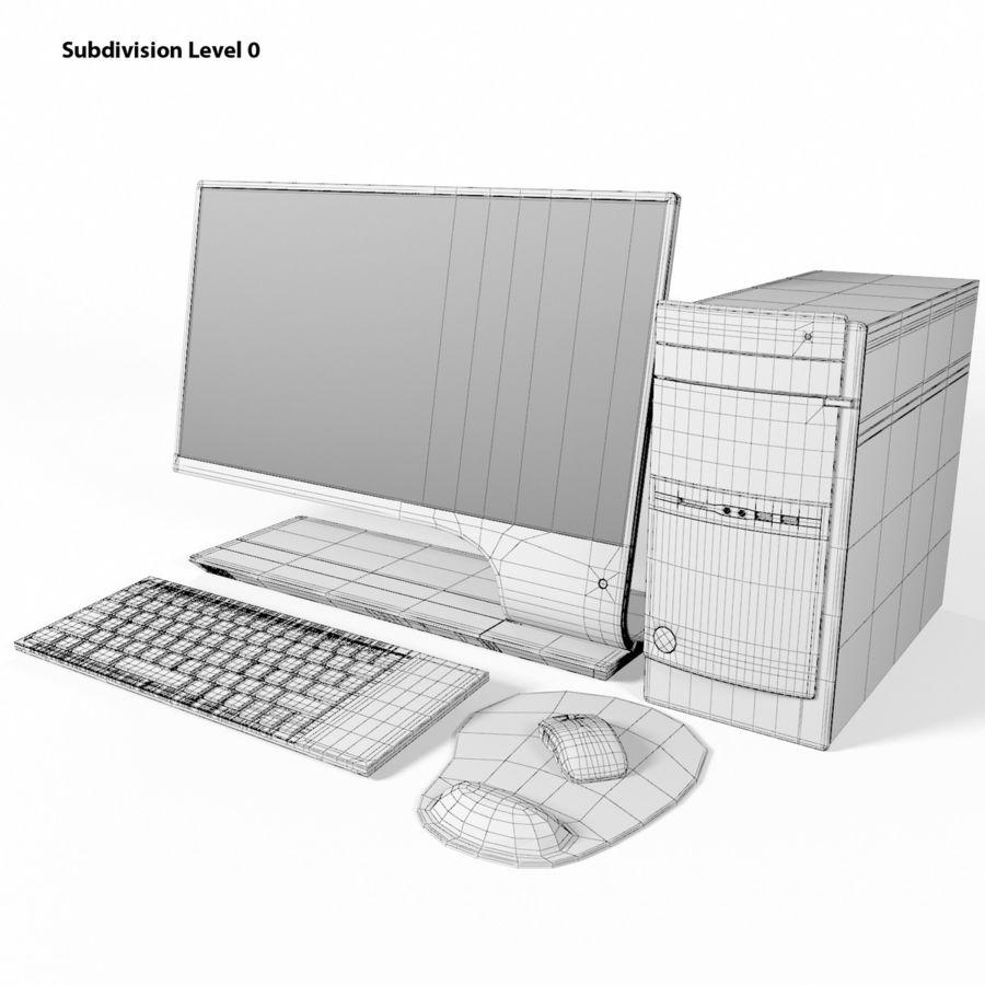 デスクトップコンピューター royalty-free 3d model - Preview no. 11