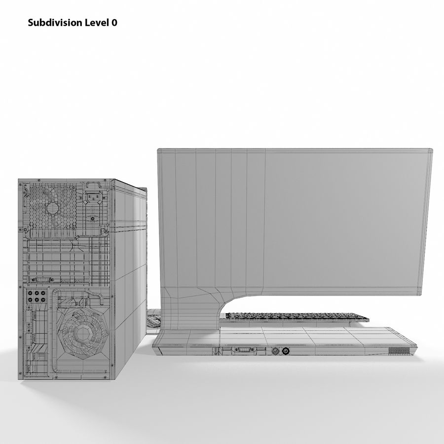 デスクトップコンピューター royalty-free 3d model - Preview no. 15