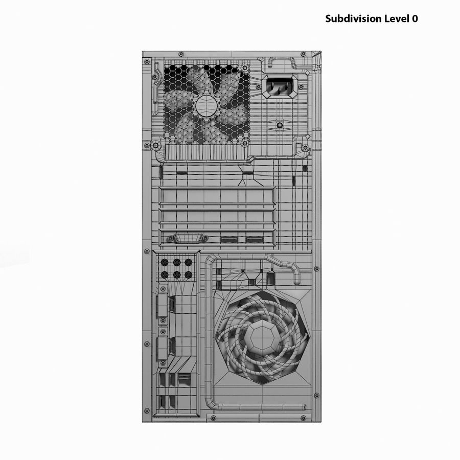 Desktop Computer royalty-free 3d model - Preview no. 23