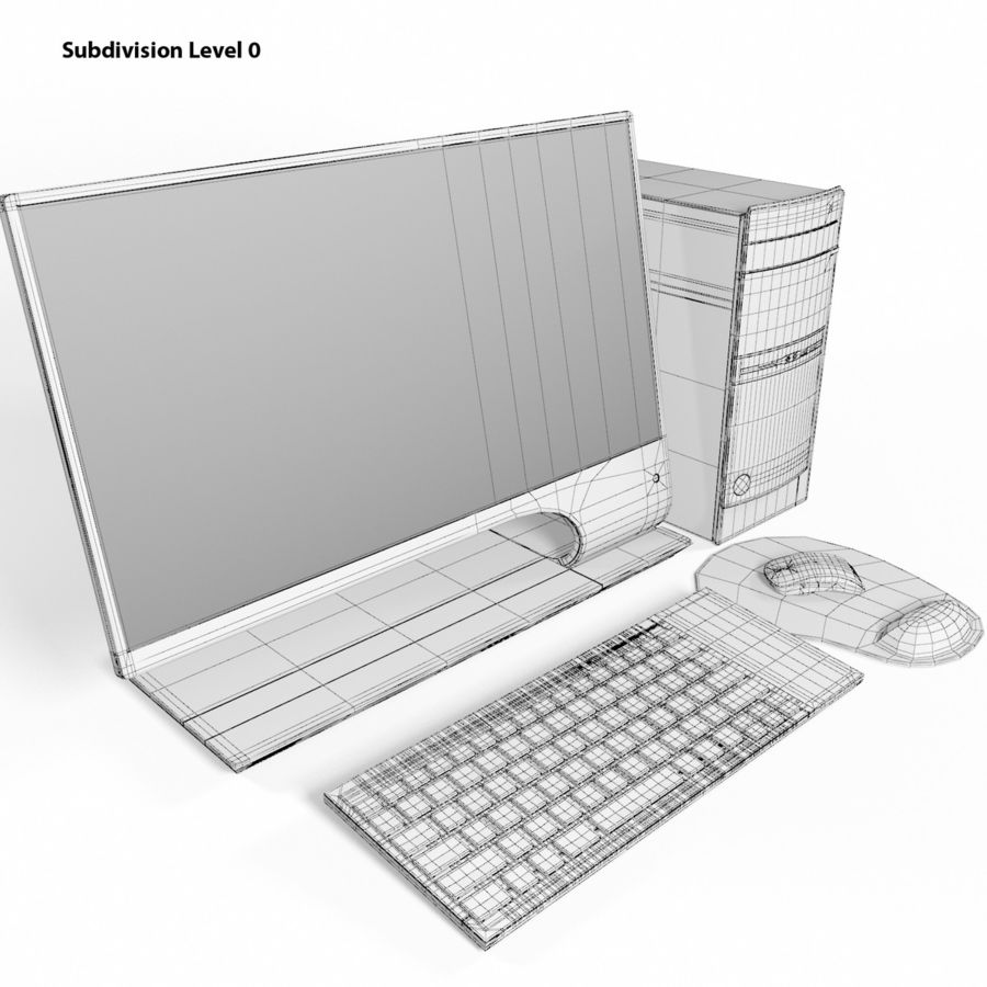 デスクトップコンピューター royalty-free 3d model - Preview no. 18