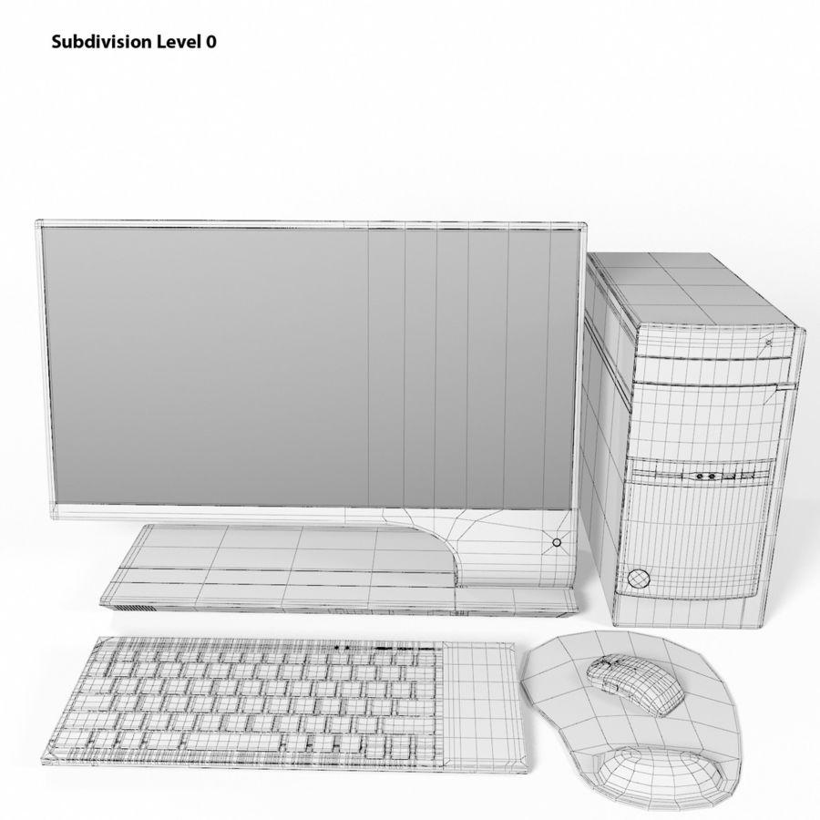 デスクトップコンピューター royalty-free 3d model - Preview no. 17