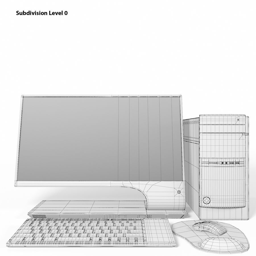 Desktop Computer royalty-free 3d model - Preview no. 13