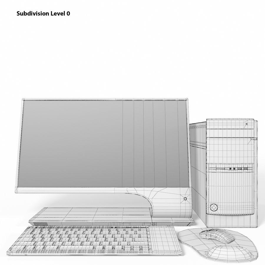 デスクトップコンピューター royalty-free 3d model - Preview no. 13