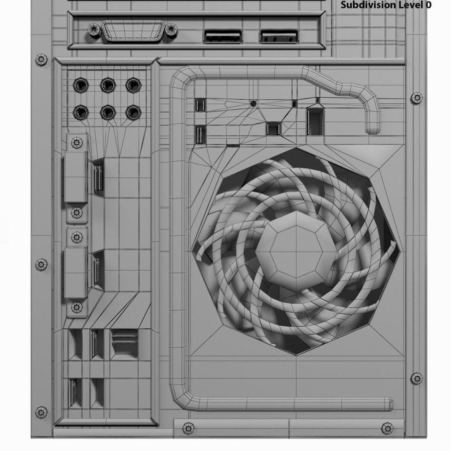 デスクトップコンピューター royalty-free 3d model - Preview no. 26