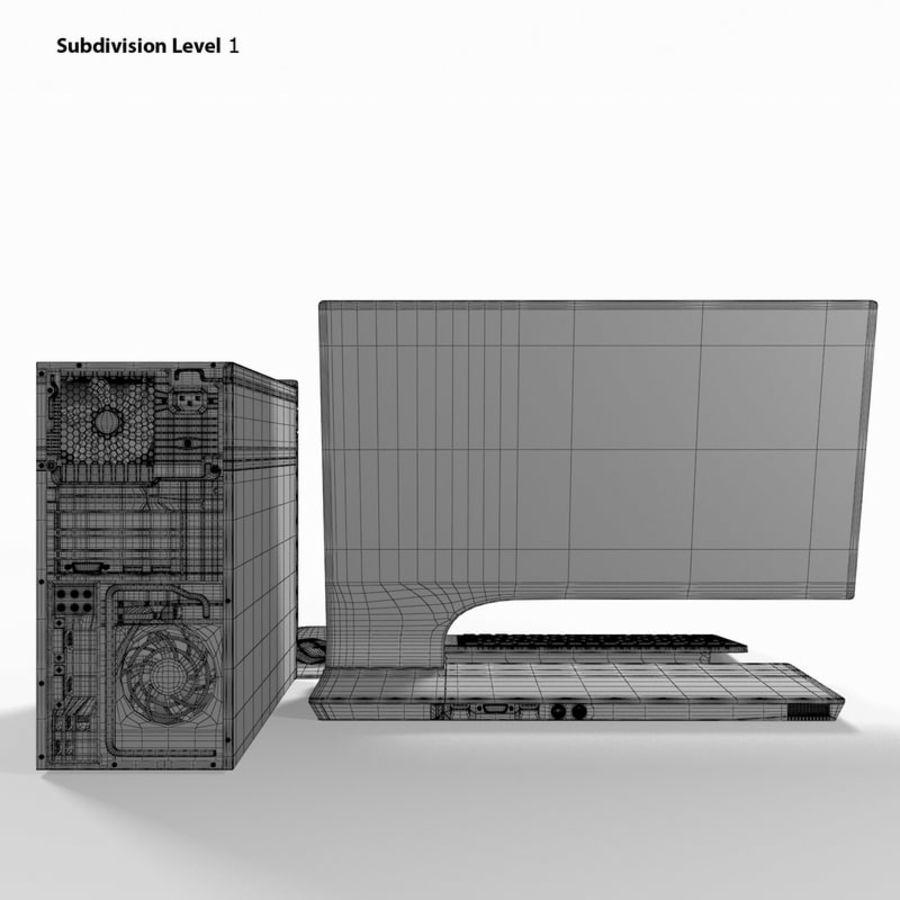 デスクトップコンピューター royalty-free 3d model - Preview no. 16