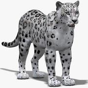 Snöleopard 3d model