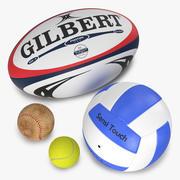 Sport Balls Collection 3d model