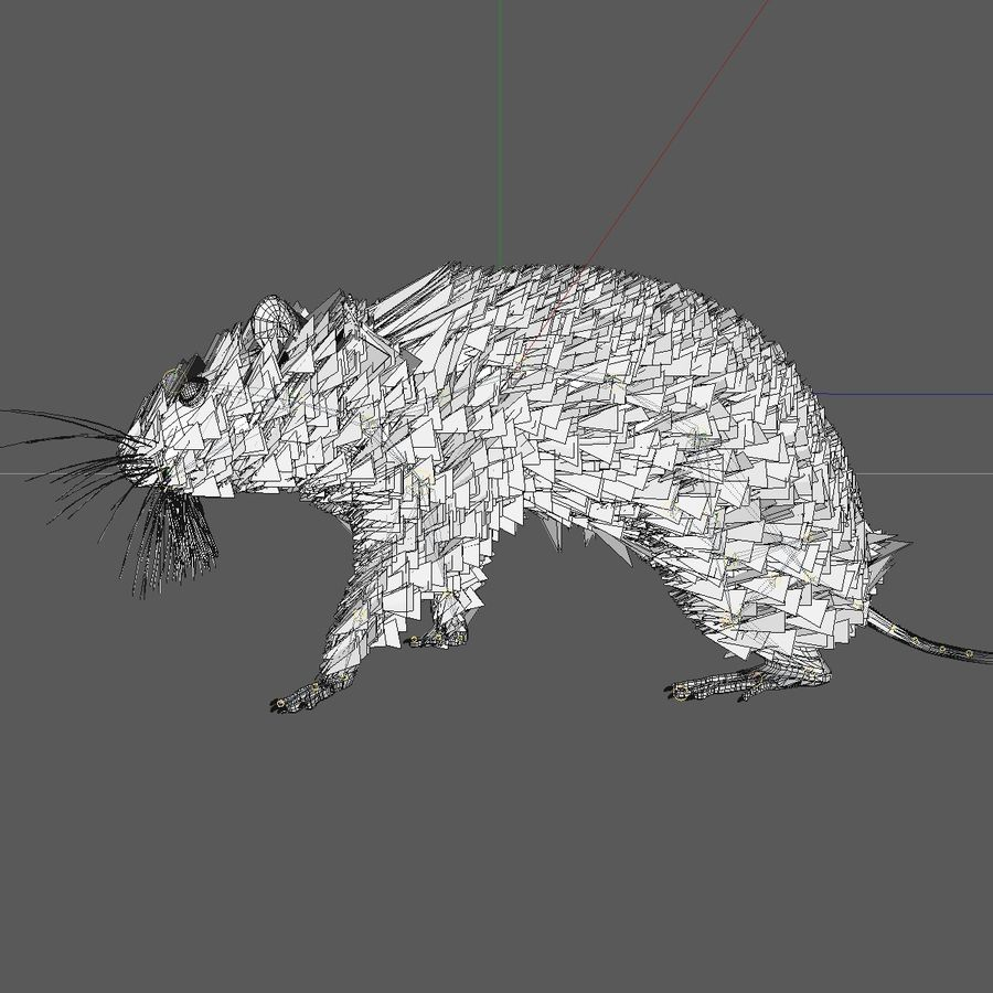 Animated Running Grey Mouse royalty-free 3d model - Preview no. 11