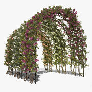 Rose Arch Trellis 3d model