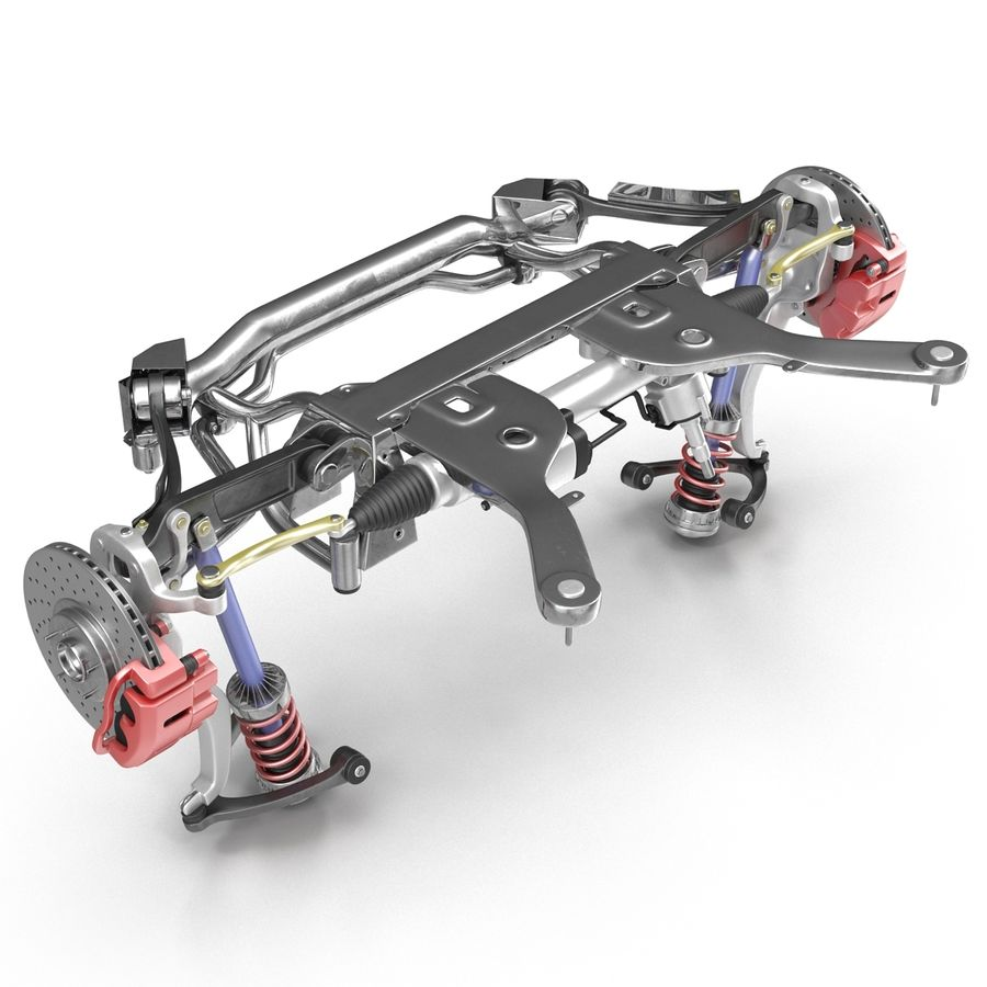 Sedan Front Suspension 2 royalty-free 3d model - Preview no. 8