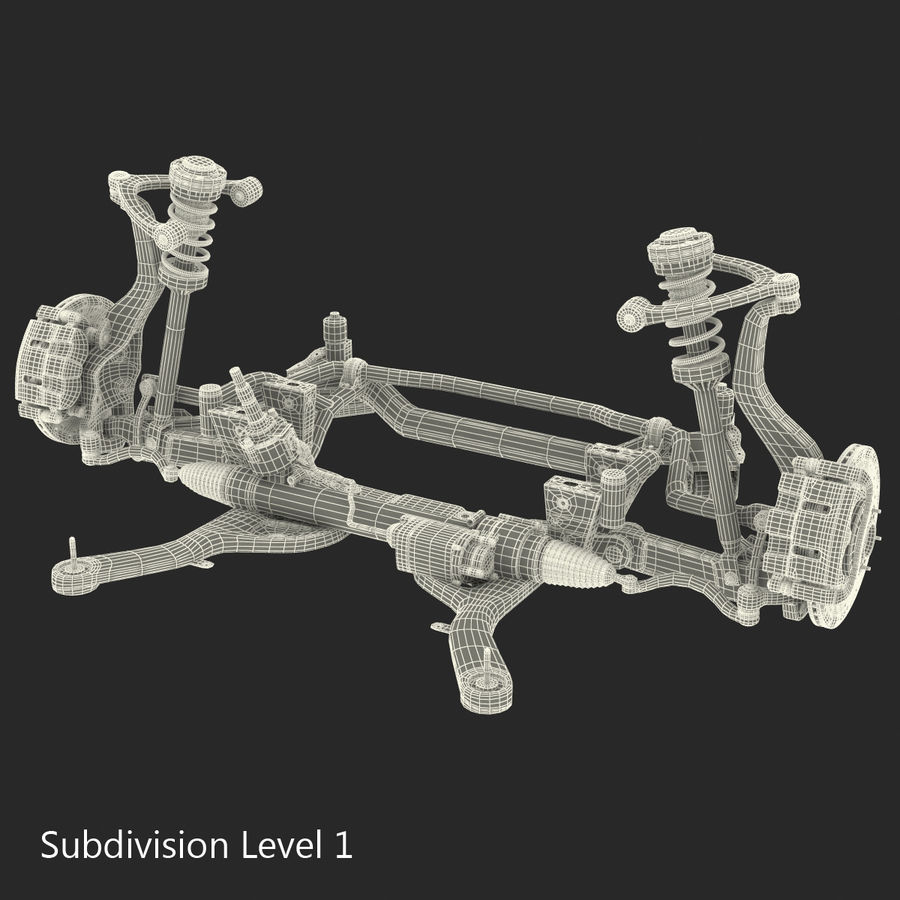 Sedan Front Suspension 2 royalty-free 3d model - Preview no. 18