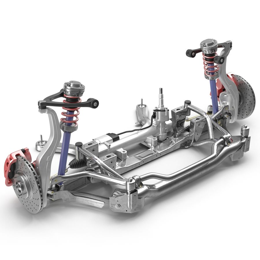 Sedan Front Suspension 2 royalty-free 3d model - Preview no. 2
