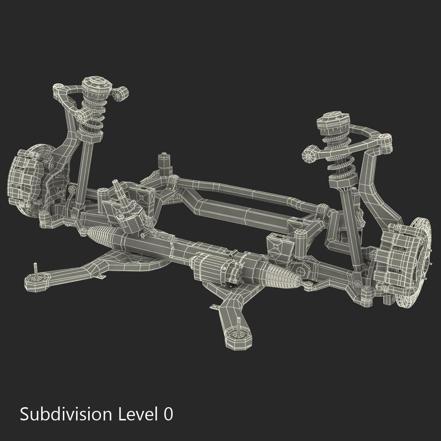 Sedan Front Suspension 2 royalty-free 3d model - Preview no. 17