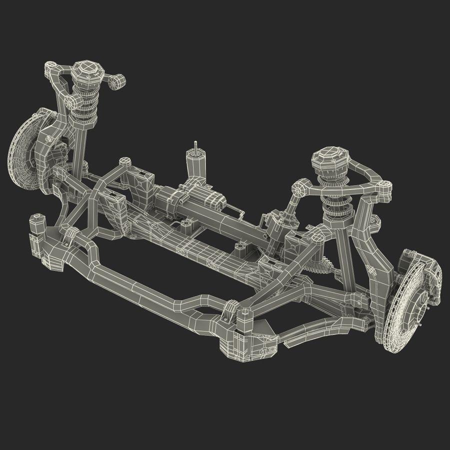 Sedan Front Suspension 2 royalty-free 3d model - Preview no. 22