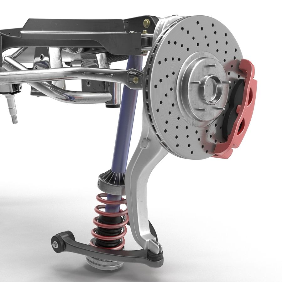 Sedan Front Suspension 2 royalty-free 3d model - Preview no. 10