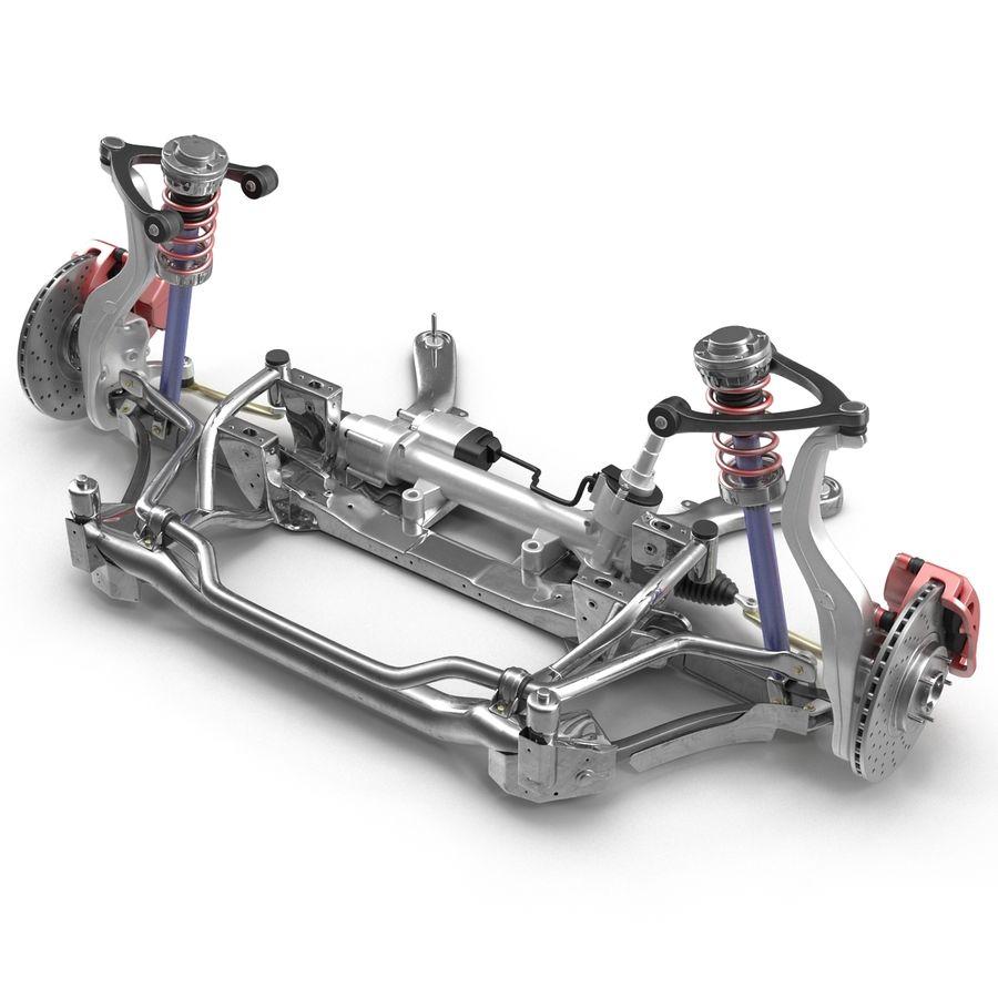 Sedan Front Suspension 2 royalty-free 3d model - Preview no. 3