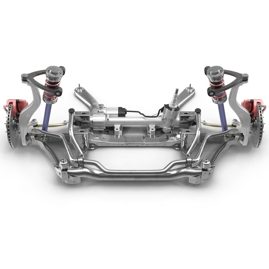 Sedan Front Suspension 2 royalty-free 3d model - Preview no. 4