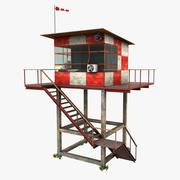 空中交通管制塔 3d model