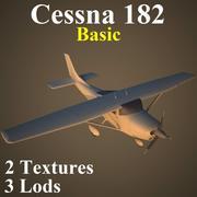 C182 Basic 3d model