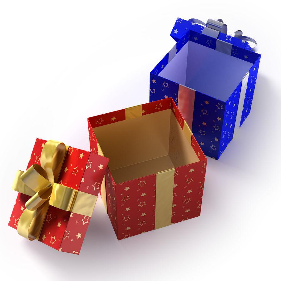 Geschenkboxen - Rot & Blau royalty-free 3d model - Preview no. 8