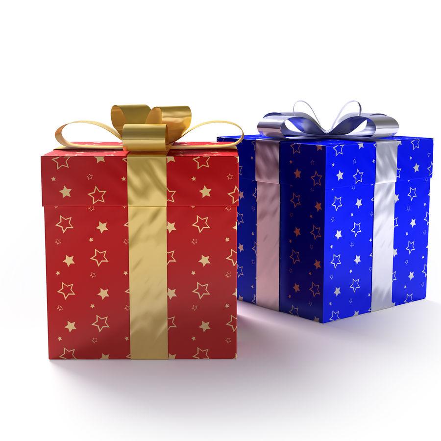 Geschenkboxen - Rot & Blau royalty-free 3d model - Preview no. 4