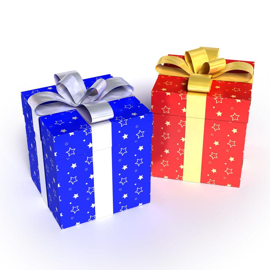 Geschenkboxen - Rot & Blau royalty-free 3d model - Preview no. 3