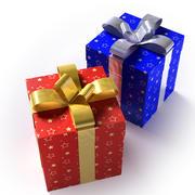 Geschenkboxen - Rot & Blau 3d model
