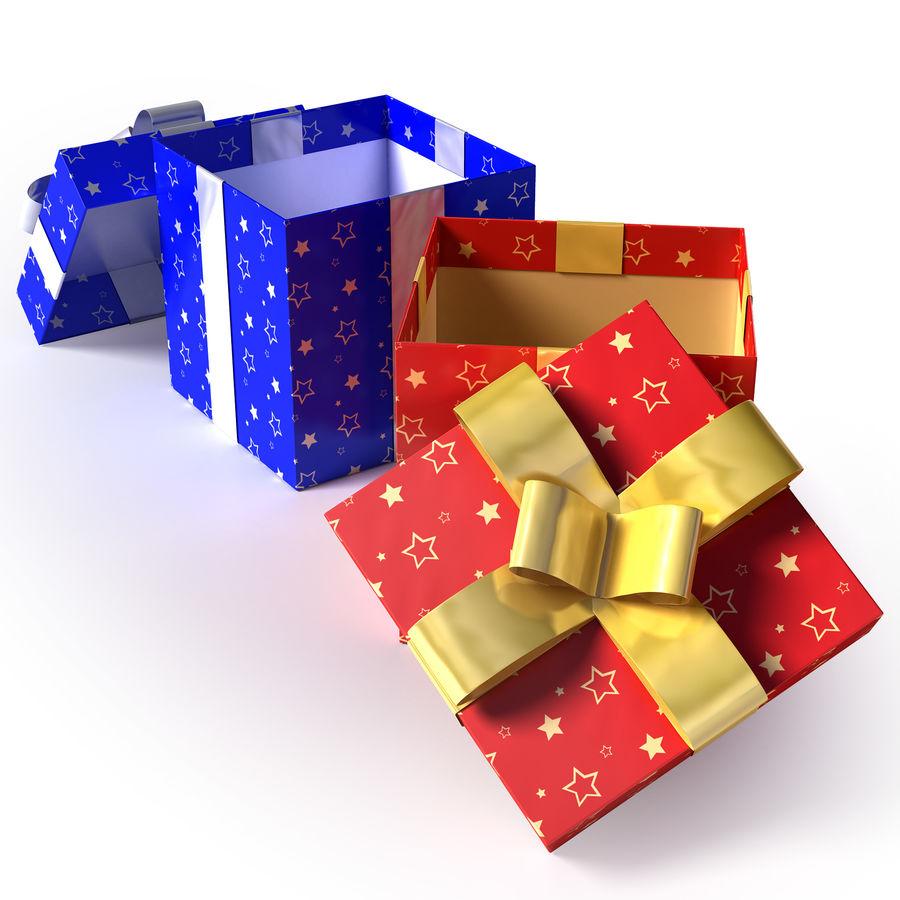 Geschenkboxen - Rot & Blau royalty-free 3d model - Preview no. 6