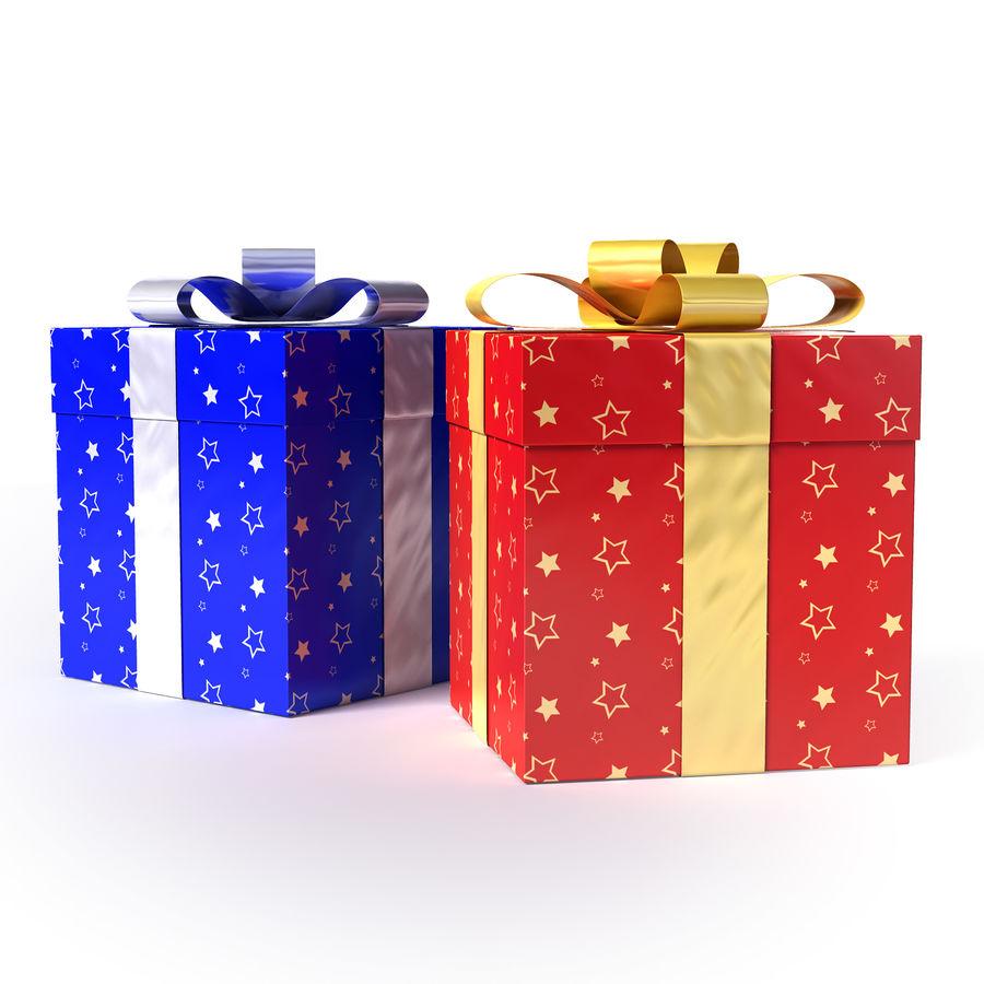 Geschenkboxen - Rot & Blau royalty-free 3d model - Preview no. 5
