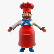 厨师 3d model