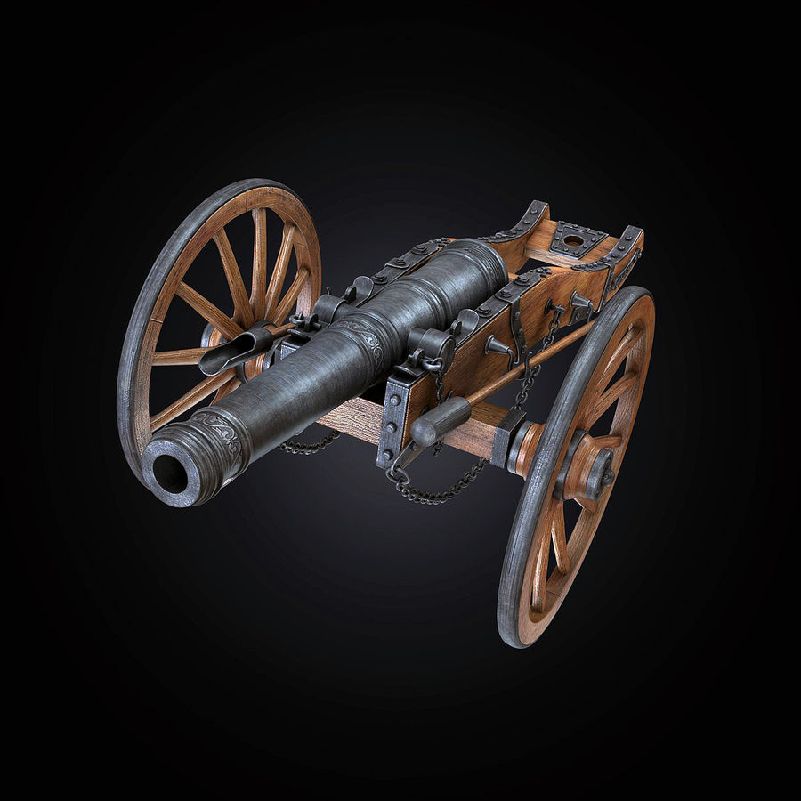 Field Cannon royalty-free 3d model - Preview no. 12