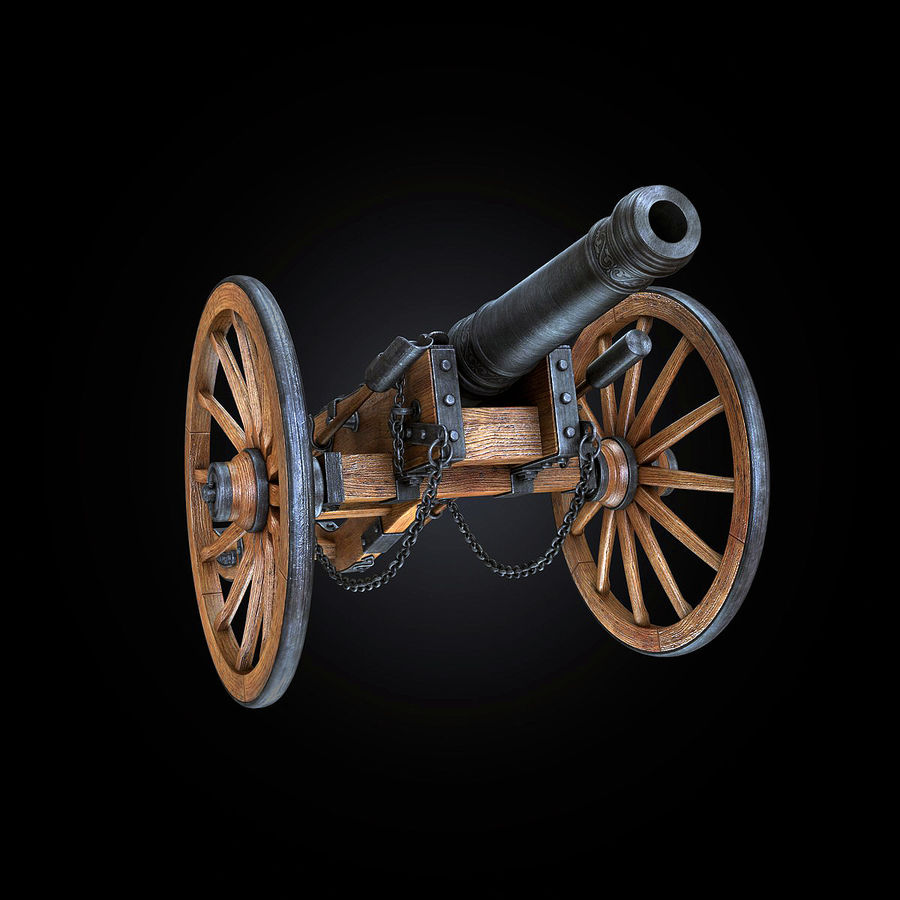 Field Cannon royalty-free 3d model - Preview no. 16