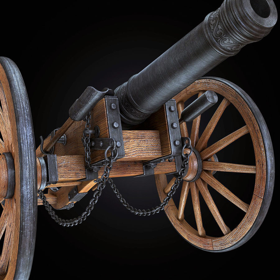 Field Cannon royalty-free 3d model - Preview no. 17