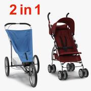 Bebek Arabası 3D Model Koleksiyonu 3d model