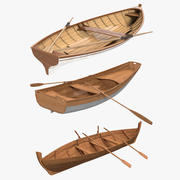 Rowing Boats 3D Models Collection 3d model