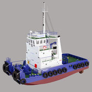 Rebocador 3d model