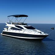 Luxary Yacht Sunseeker Manhattan 65 3d model