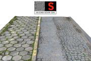 sidewalk pavement  Scan Ultra HD (2) 3d model