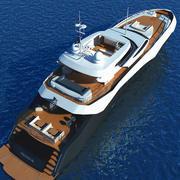 Luxary Yacht Sunseeker Predator 115 3d model