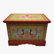 Caja pintada modelo 3d