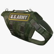 US Army Dog Armor 2 (Woodland Camo) 3d model