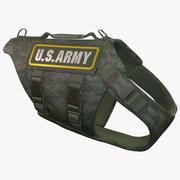 US Army Dog Armor 3 (Digital Camo) 3d model