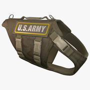 US Army Dog Armor 4 (Desert Camo) 3d model