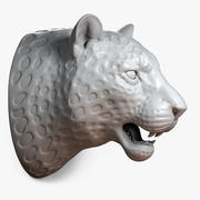 ヒョウの頭(彫刻) 3d model