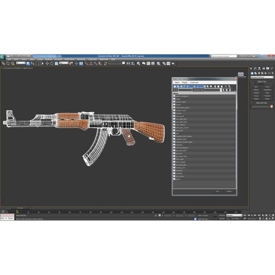 Assault Rifle AK 47 royalty-free 3d model - Preview no. 26
