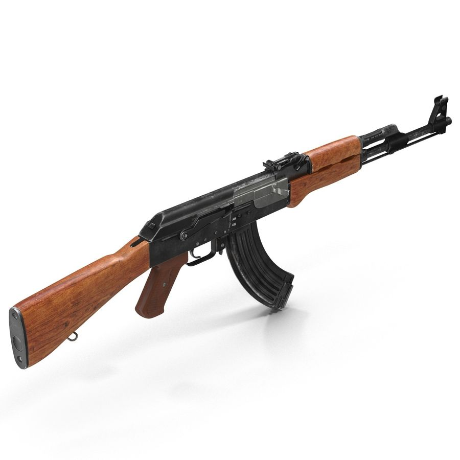 Assault Rifle AK 47 royalty-free 3d model - Preview no. 4