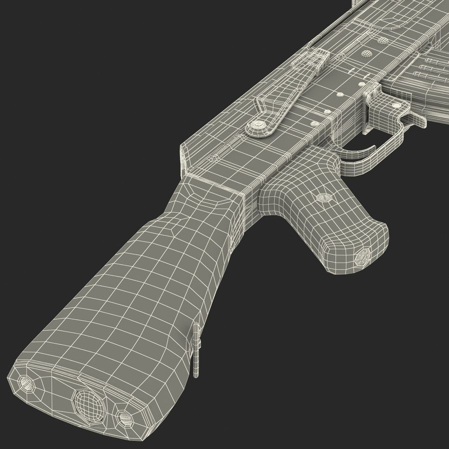 Assault Rifle AK 47 royalty-free 3d model - Preview no. 34