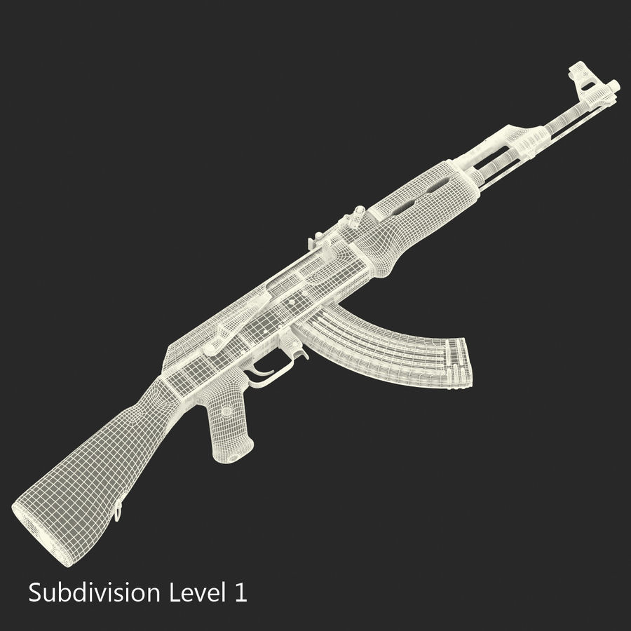Assault Rifle AK 47 royalty-free 3d model - Preview no. 21