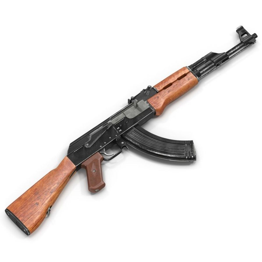 Assault Rifle AK 47 royalty-free 3d model - Preview no. 2